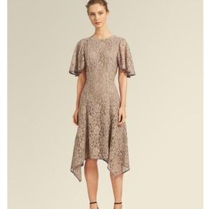 🆕Donna Karan Lace Flutter Sleeve Dress in mauve
